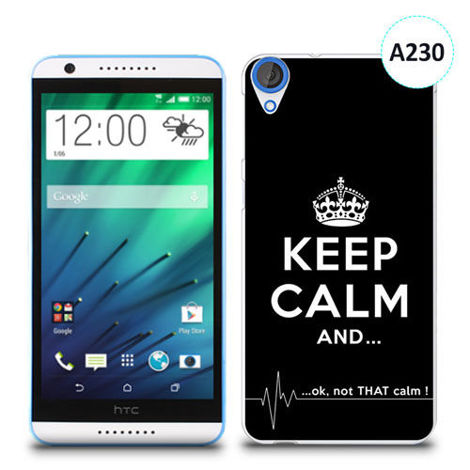 Etui silikonowe z nadrukiem HTC Desire 820 - keep calm and...
