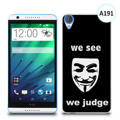 Etui silikonowe z nadrukiem HTC Desire 820 -we see we judge