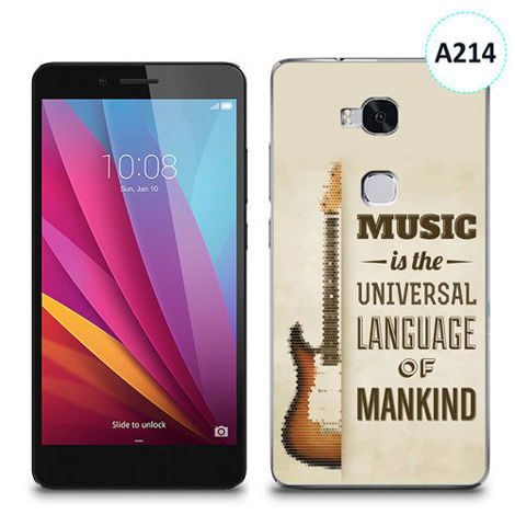 Etui silikonowe z nadrukiem Huawei Honor 5x - music is the universal language of mankind