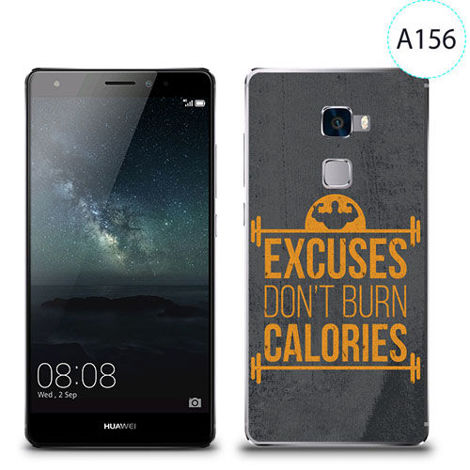 Etui silikonowe z nadrukiem Huawei Mate S - excuses don't burn calories