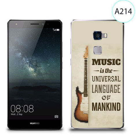 Etui silikonowe z nadrukiem Huawei Mate S - music is the universal language of mankind