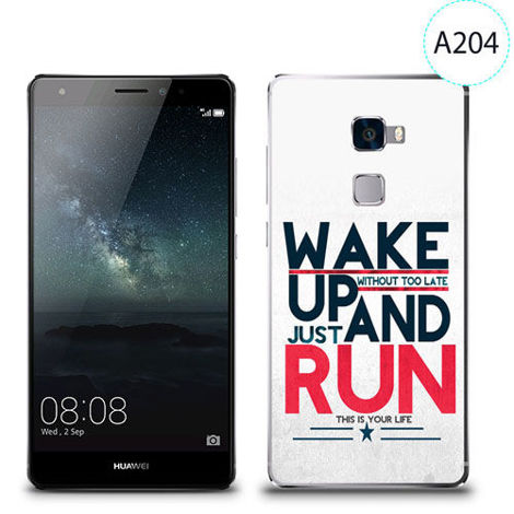 Etui silikonowe z nadrukiem Huawei Mate S - wake up without too late just and run