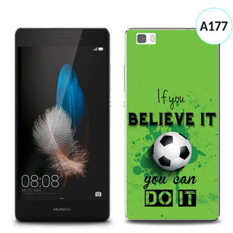 Etui silikonowe z nadrukiem Huawei P8 Lite - if you believe it you can do it