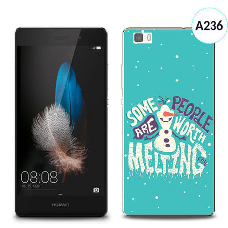 Etui silikonowe z nadrukiem Huawei P8 Lite - olaf some people are worth melting