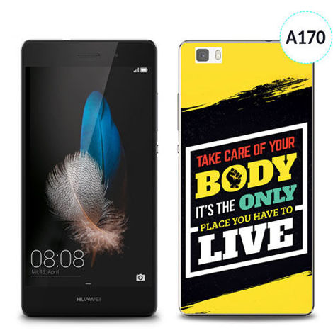 Etui silikonowe z nadrukiem Huawei P8 Lite - take care of your body