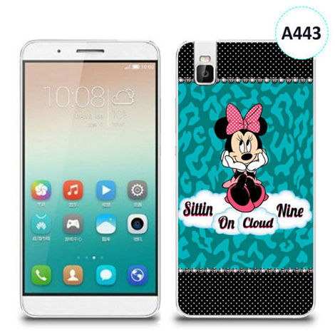 Etui silikonowe z nadrukiem Huawei Shotx 7i -  minnie sittin on cloud