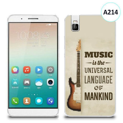 Etui silikonowe z nadrukiem Huawei Shotx 7i - music is the universal language of mankind