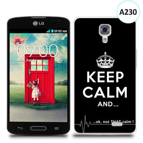 Etui silikonowe z nadrukiem LG F70 - keep calm and...