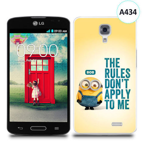 Etui silikonowe z nadrukiem LG F70 - minion the rules don't apply to me