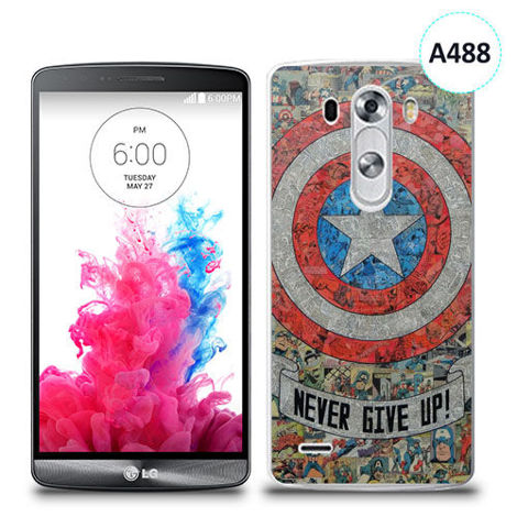 Etui silikonowe z nadrukiem LG G3 - avengers never give up