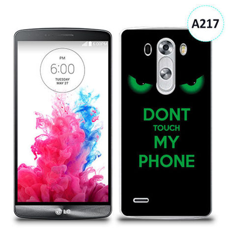 Etui silikonowe z nadrukiem LG G3 - don't touch my phone eyes