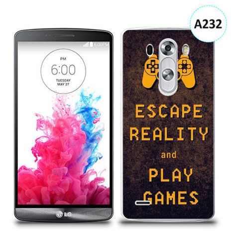 Etui silikonowe z nadrukiem LG G3 - escape reality and play games