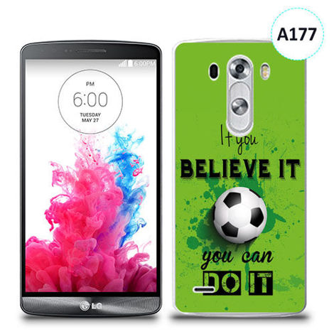 Etui silikonowe z nadrukiem LG G3 - if you believe it you can do it
