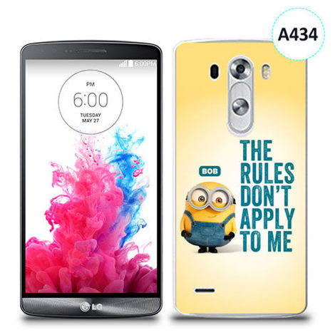 Etui silikonowe z nadrukiem LG G3 - minion the rules don't apply to me