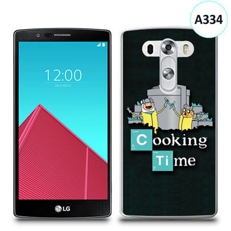 Etui silikonowe z nadrukiem LG G4 - breaking bad cooking time