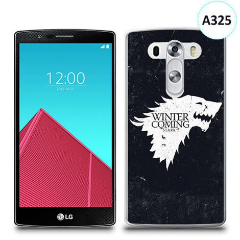 Etui silikonowe z nadrukiem LG G4 - gra o tron winter is coming