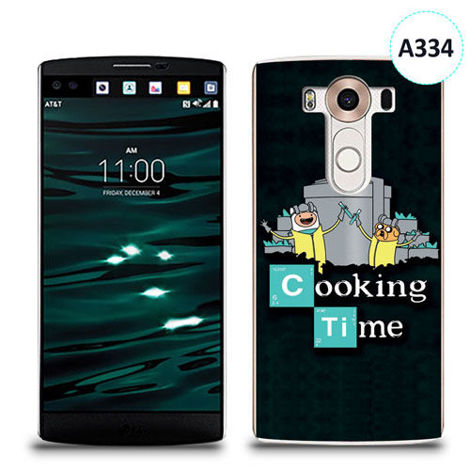 Etui silikonowe z nadrukiem LG V10 - breaking bad cooking time