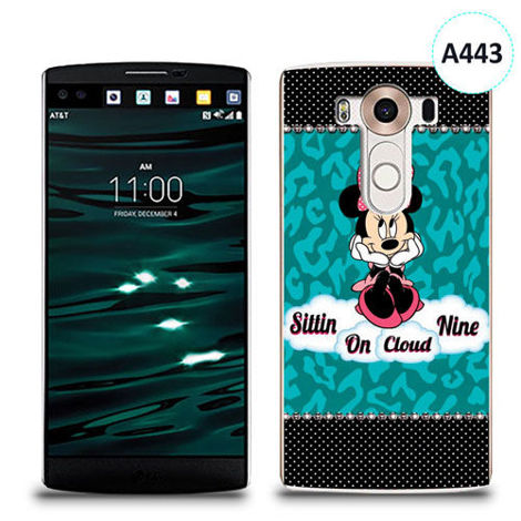 Etui silikonowe z nadrukiem LG V10 - minnie sittin on cloud