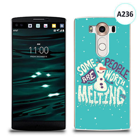Etui silikonowe z nadrukiem LG V10 - olaf some people are worth melting