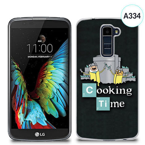 Etui silikonowe z nadrukiem Lg K10 - breaking bad cooking time