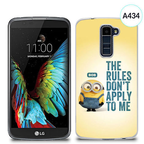 Etui silikonowe z nadrukiem Lg K10 - minion the rules don't apply to me