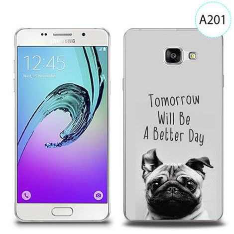 Etui silikonowe z nadrukiem Samsung Galaxy A5 2016 - tomorrow will be a better day