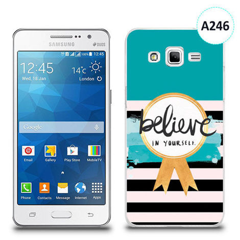 Etui silikonowe z nadrukiem Samsung Galaxy Grand Prime - believe in yourself