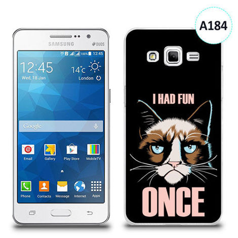 Etui silikonowe z nadrukiem Samsung Galaxy Grand Prime - i had fun once