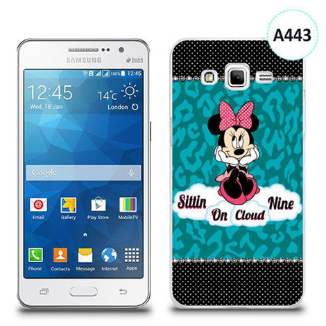 Etui silikonowe z nadrukiem Samsung Galaxy Grand Prime - minnie sittin on cloud
