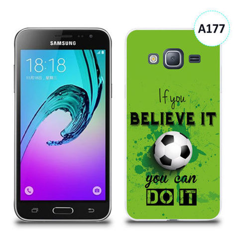Etui silikonowe z nadrukiem Samsung Galaxy J3 2016 - if you believe it you can do it