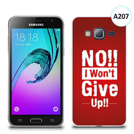 Etui silikonowe z nadrukiem Samsung Galaxy J3 2016 - no i won't give up !