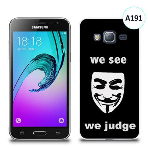 Etui silikonowe z nadrukiem Samsung Galaxy J3 2016 - we see we judge