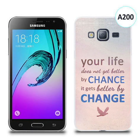 Etui silikonowe z nadrukiem Samsung Galaxy J3 2016 - your life doesn't get better by chance