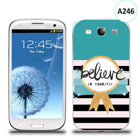 Etui silikonowe z nadrukiem Samsung Galaxy S3 - believe in yourself