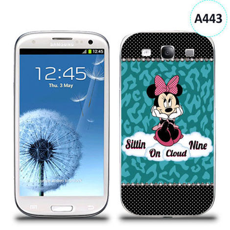 Etui silikonowe z nadrukiem Samsung Galaxy S3 - minnie sittin on cloud