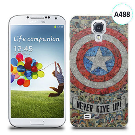 Etui silikonowe z nadrukiem Samsung Galaxy S4 - avengers never give up