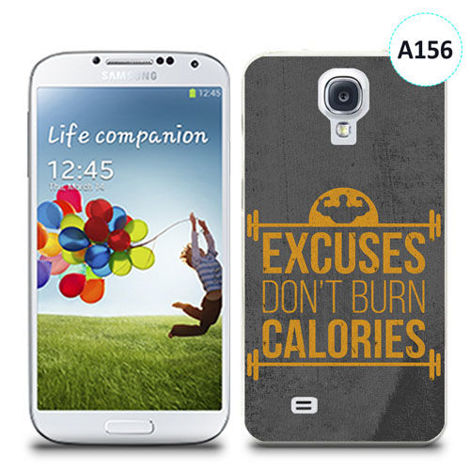 Etui silikonowe z nadrukiem Samsung Galaxy S4 - excuses don't burn calories
