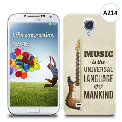 Etui silikonowe z nadrukiem Samsung Galaxy S4 - music is the universal language of mankind