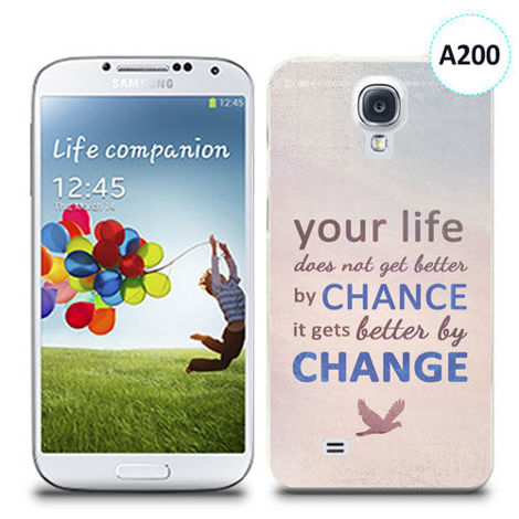 Etui silikonowe z nadrukiem Samsung Galaxy S4 - your life doesn't get better by chance