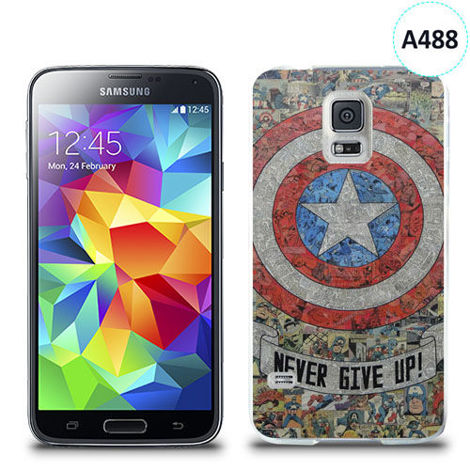 Etui silikonowe z nadrukiem Samsung Galaxy S5 - avengers never give up