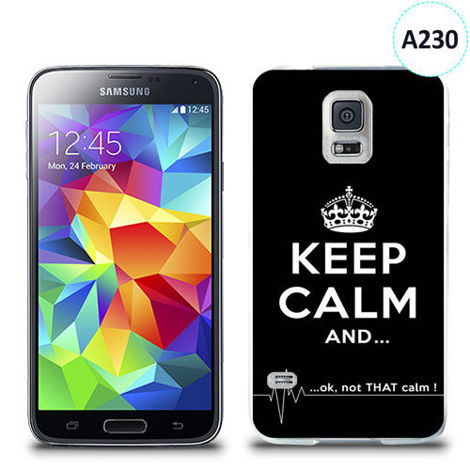 Etui silikonowe z nadrukiem Samsung Galaxy S5 - keep calm and...