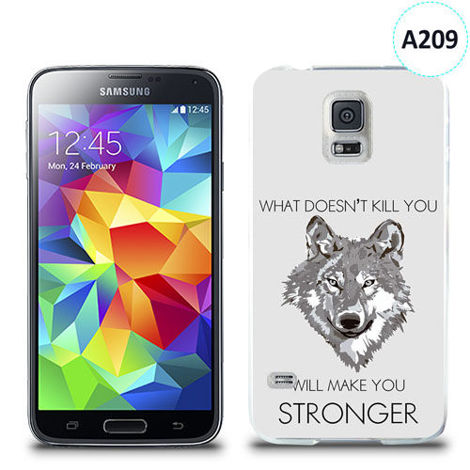 Etui silikonowe z nadrukiem Samsung Galaxy S5 - will make you stronger