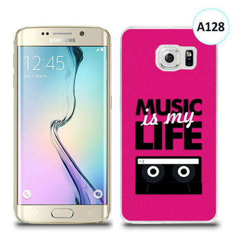 Etui silikonowe z nadrukiem Samsung Galaxy S6 Edge Plus - music is my life
