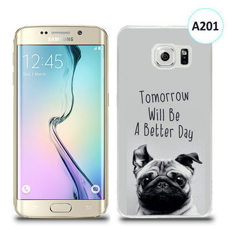 Etui silikonowe z nadrukiem Samsung Galaxy S6 Edge Plus - tomorrow will be a better day