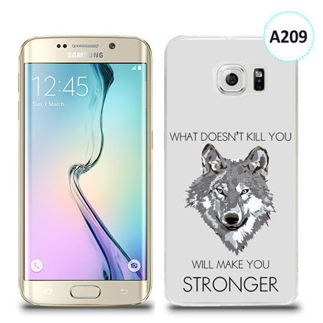 Etui silikonowe z nadrukiem Samsung Galaxy S6 Edge Plus - will make you stronger