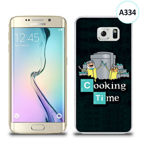Etui silikonowe z nadrukiem Samsung Galaxy S6 Edge - breaking bad cooking time