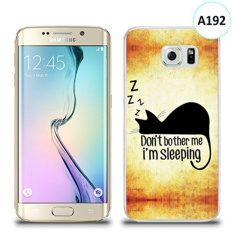 Etui silikonowe z nadrukiem Samsung Galaxy S6 Edge - don't bother me i'm sleeping