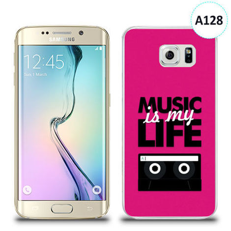 Etui silikonowe z nadrukiem Samsung Galaxy S6 Edge -  music is my life