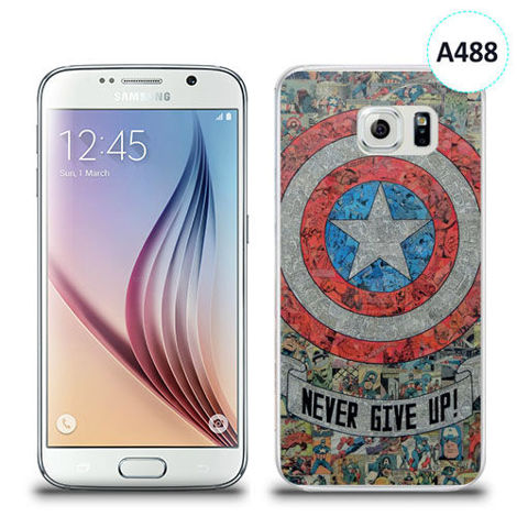 Etui silikonowe z nadrukiem Samsung Galaxy S6 - avengers never give up