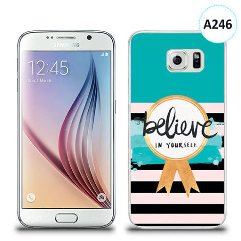 Etui silikonowe z nadrukiem Samsung Galaxy S6 - believe in yourself